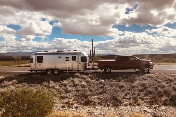 Our Airstream on the Western highway